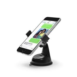 Power Theory Universal Handy Halter - Gratis 3M Klebepad KFZ Armaturenbrett Handyhalterung Auto Halterung für iPhone 7 6s 6 plus SE 5 5s 5c Samsung Galaxy S7 Edge S6 S5 S4 LG HTC und alle Smartphones (Schwarz) -
