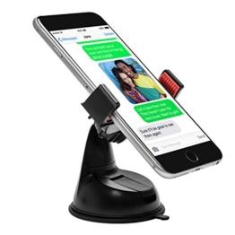 Power Theory Universal Handy Halter - Gratis 3M Klebepad KFZ Armaturenbrett Handyhalterung Auto Halterung für iPhone 7 6s 6 plus SE 5 5s 5c Samsung Galaxy S7 Edge S6 S5 S4 LG HTC und alle Smartphones (Rot) -