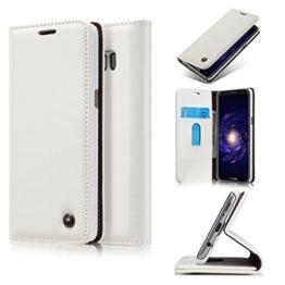 Roreikes Samsung Galaxy S8 Plus Hülle, Galaxy S8 Plus (6,2 Zoll) Case, Premium PU Leder Folio Flip Case mit Card Slot Kickstand Magnetic Wallet Case für Samsung Galaxy S8 Plus (6,2 Zoll) - Weiß -