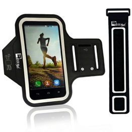 Running Armband für iPhone 7 / Samsung S7 Mit Fingerprind-Identifizierung. Sportarmband Telefon Handyhalter Case für Workout, Joggen & Fitness mit Verlängerungsband (kleine 23cm - 53cm Große Arme) -