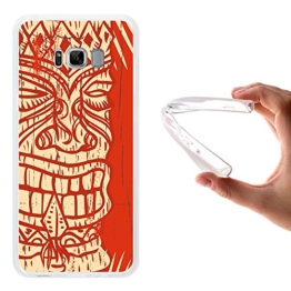 Samsung Galaxy S8 Edge - Plus Hülle, WoowCase Handyhülle Silikon für [ Samsung Galaxy S8 Edge - Plus ] Aztekisches Holz Handytasche Handy Cover Case Schutzhülle Flexible TPU -