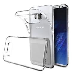 Samsung Galaxy S8 Hülle Case, Elekin Samsung Galaxy S8 Case silikon Hülle Crystal Clear Premium Durchsichtig Handyhülle Backcover Durchsichtig hülle Transparent Case Schutzhüllen TPU Case für Samsung Galaxy S8 -