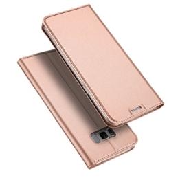 Samsung Galaxy S8 Hülle, DUX DUCIS Skin Pro Series Ultra Slim Layered Dandy, Ständer, Magnetverschluss,TPU Bumper, Full Body Schutz für Samsung Galaxy S8 (Rose golden) -
