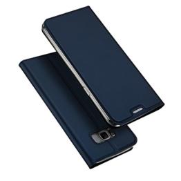 Samsung Galaxy S8 Hülle, DUX DUCIS Skin Pro Series Ultra Slim Layered Dandy, Ständer, Magnetverschluss,TPU Bumper, Full Body Schutz für Samsung Galaxy S8 (Deep blue) -