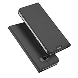 Samsung Galaxy S8 Hülle, DUX DUCIS Skin Pro Series Ultra Slim Layered Dandy, Ständer, Magnetverschluss,TPU Bumper, Full Body Schutz für Samsung Galaxy S8 (Gray) -
