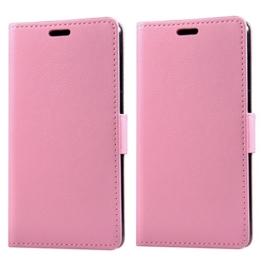 Samsung Galaxy S8 Hülle - L2W Luxus schlanke PU Leder Flip schützende magnetische Brieftasche Cover Hülle mit Kartenslot und Stand-Funktion für Samsung Galaxy S8 - Pink -