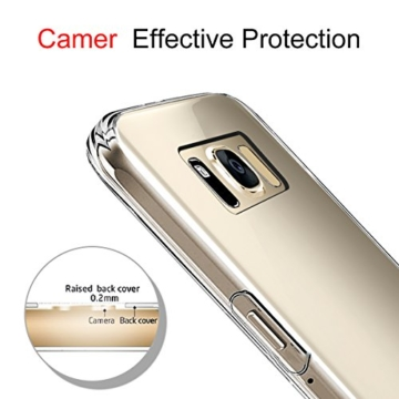 Samsung Galaxy S8 Hülle, Profer TPU [Crystal Clear] Transparent Ultradünn Schutzhülle Flexibel Silikon Case Cover Handyhülle Slimcase Rückschale für Samsung Galaxy S8 (5,8