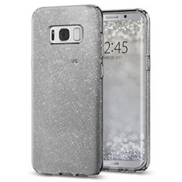 Samsung Galaxy S8 Hülle, Spigen® [Liquid Crystal] Glitzer Design [Space Quartz] Glänzende Soft Flex Premium TPU Silikon Bumper Style Handyhülle Perfekte Passform Schutzhülle für Samsung Galaxy S8 Case Cover, Samsung S8 Case Cover - Space Quartz (565CS21616) -