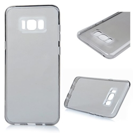 Samsung Galaxy S8 Plus Crystal Clear Case Samsung Galaxy S8 Plus Soft Hülle YOKIRIN Premium Flexible TPU Silikon Case Cover Durchsichtige Schutzhülle Silikonhülle Handytasche Protector Etui Transparent Schwarz -