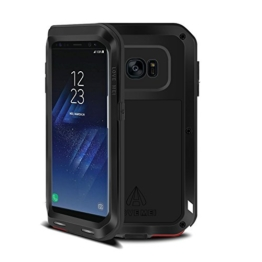 Samsung Galaxy S8 plus Hülle Case, Eastcoo wasserdicht stoßfest Alloy Aluminum Metal Bumper Soft silikon Military Schwer Metall Militär starkes stoßfestes hartes Hülle Tasche cover für Samsung Galaxy S8 plus -