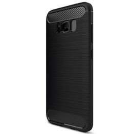 Samsung Galaxy S8 Plus Hülle Case, Elekin Soft-Flex Capsule Premium Schwarz TPU Handyhülle Schutzhülle Schmaler Telefonschutz für das Samsung Galaxy S8 Plus - Schwarz -