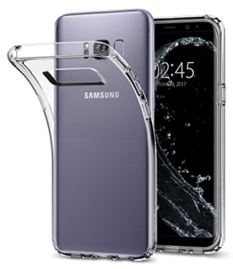 Samsung Galaxy S8 Plus Hülle, Spigen® [Liquid Crystal] Soft Flex Silikon [Crystal Clear] Transparent Ultra Dünn Schlank Bumper-Style Handyhülle Premium Kratzfest TPU Durchsichtige Schutzhülle für Samsung Galaxy S8+ Case Cover, Samsung S8 Plus Case Cover - Crystal Clear (571CS21664) -