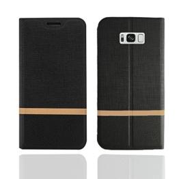 Samsung Galaxy S8 Plus Hülle,SunFay PU Leder Tasche Schutzhülle Flip Case Wallet für Samsung Galaxy S8 Plus Cover - Schwarz -