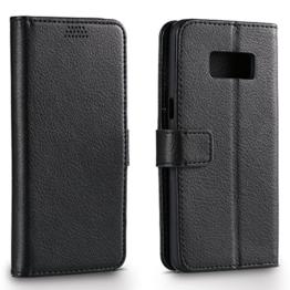 Samsung Galaxy S8 Wallet Hülle, Aomo Samsung Galaxy S8 Hülle [Litchi Wallet Hülle] [Kickstand Feature] [Karten halter] PU Leder Schutz hülle Hülle Cover für Sumsung Galaxy S8 -