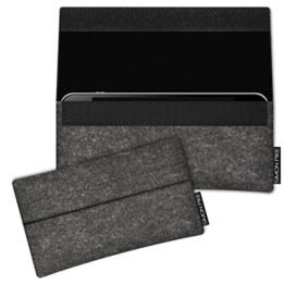 """SIMON PIKE Google Pixel 5"""" Filztasche Case Hülle 'NewYork' in anthrazit 1, passgenau maßgefertigte Filz Schutzhülle aus echtem Natur Wollfilz, dünne Tasche im schlanken Slim Fit Design für das Pixel 5"""" -"""