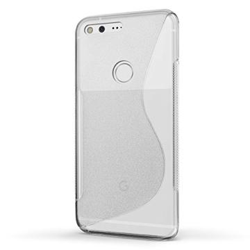 SLEO Google Pixel Hülle S-TPU Ultradünne Schutzhülle [Anti-Scratch/Rutsch] [Staubdicht] Translucent Silikon Tasche für Google Pixel - Transparent -