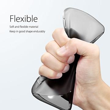 SLEO Google Pixel XL Hülle S-TPU Ultradünne Schutzhülle [Anti-Scratch/Rutsch] [Staubdicht] Translucent Silikon Tasche für Google Pixel XL - Grau -