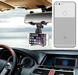 Smartphonehalterung Rückspeigelhalterung für Google Pixel XL, schwarz | Autohalterung Spiegel KFZ Halter - K-S-Trade (TM) -