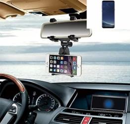Smartphonehalterung Rückspeigelhalterung für Samsung Galaxy S8+, schwarz | Autohalterung Spiegel KFZ Halter - K-S-Trade (TM) -