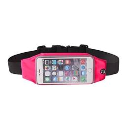 """Sport Gürteltasche spritzwasserfeste Lauftasche, Handytasche, Handyschutz, Running, Joggen, für iPhone 6S Plus / 6 Plus , Samsung Galaxy Note 1 2 3 4 5 , S6 Edge Plus, S7 Edge und viele mehr ( 5.5"""" ) (Pink) -"""