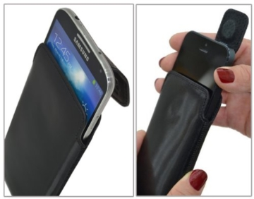 Suncase Tasche für Motorola Moto G5 Plus / Leder Etui Handytasche Ledertasche Schutzhülle Case Hülle / in cognac -