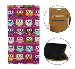 Sunrive® Für LG G6,Magnetisch Schaltfläche Ledertasche Schutzhülle Etui Hülle mit Standfunktion Cover Tasche Case Handyhülle Kartenfächer Kreditkarte Taschen Schalen Handy Tasche Flip Wallet Stil Lederhülle(W Owl 1)+Gratis Universal Eingabestift -