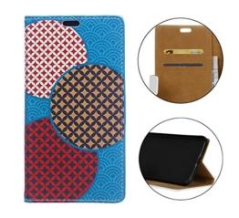 Sunrive® Für LG G6,Magnetisch Schaltfläche Ledertasche Schutzhülle Etui Hülle mit Standfunktion Cover Tasche Case Handyhülle Kartenfächer Kreditkarte Taschen Schalen Handy Tasche Flip Wallet Stil Lederhülle(W Muster 6)+Gratis Universal Eingabestift -