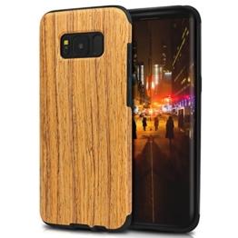 TENDLIN Samsung Galaxy S8 Plus Hülle Holz Flexiblem TPU Silikon Hybrid Weiche Schutzhülle für Samsung Galaxy S8 Plus (Santos Palisander) -