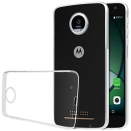 TopAce® TPU Hülle Schutzhülle Crystal Case Durchsichtig Klar Silikon transparent für Motorola Moto Z Play (Transparent) -