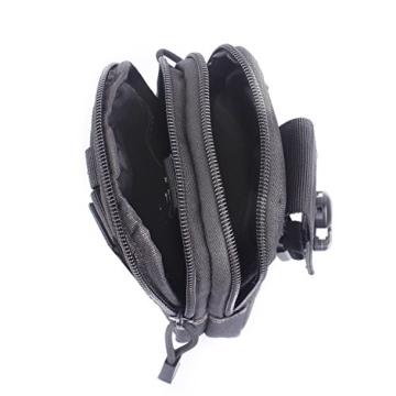 Unigear Taktische Hüfttaschen molle tasche Gürteltasche MOLLE EDC Beutel Militär ideal für Outdoorsport Multifunktionen praktische Ausrüstung mit extrafreiem Aluminiumkarabiner -