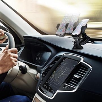 Universal KFZ Halterung, Vtin 360 °drehbare Handyhalterung, Windschutzscheibe Armaturenbrett car mount holder, Autohalterung mit Kugelgelenk für iPhone 7, 6s / 6 Plus 5s,Galaxy S7 / S6 Rand S5, Hinweis 5/4/3 und bis zu 6 Zoll Handy usw -