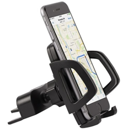 Vena KFZ Halterung [One Hand|Air Vent] CD Slot Car Mount Holder für Apple iPhone 7, 7 Plus, 6s, 6s Plus, 5S, SE, Google Pixel, Pixel XL, Galaxy S7, S7 Edge, On5, Smartphones und GPS Systeme -