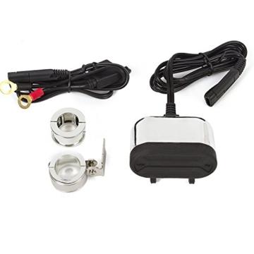 Wasserdichte Motorrad Handy GPS Dual USB Output Netzteil Adapter USB Ladekabel Ladegerät Fassung (nicht System inkl. Zigarettenanzünder) -
