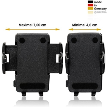 Wicked Chili KFZ-Halterung für Handy und Smartphone (Made in Germany, universell für Geräte von 46-76 mm Breite, kompatibel mit Bumper/ Hülle/ Case) -