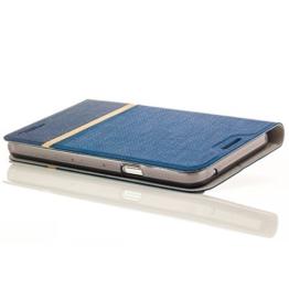 Zanasta Designs Tasche Lenovo Moto Z play Hülle Flip Case Schutzhülle Handytasche mit Kartenfach Blau -