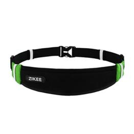 Zikee Ultra Slim Laufgürtel für Handy Smartphone Schlüssel Hüfttasche, Running Belt, Sport-Bauchtasche, Jogging Fitness Gürtel Iphone, Huawei, Samsung Galaxy, Gel -